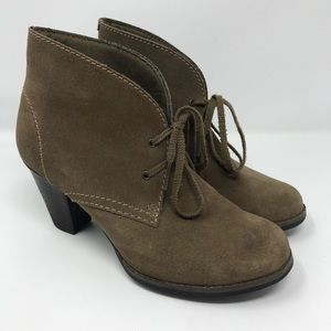 Clarks Carlisle Suede Heel Boots 7